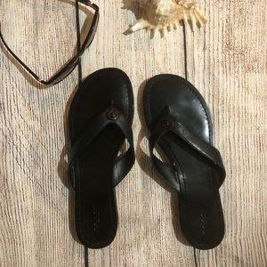 Coach black flip flops size 9